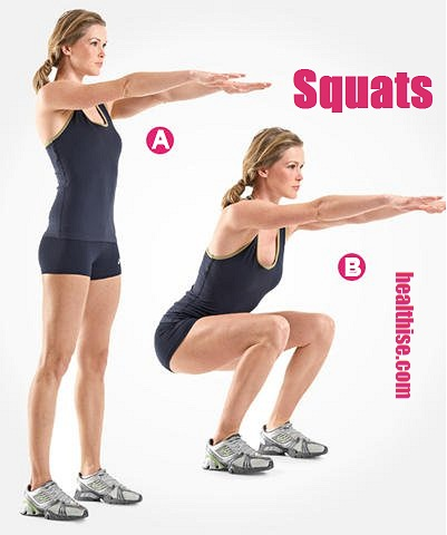 squat exercise buttocks asscheeks thighs