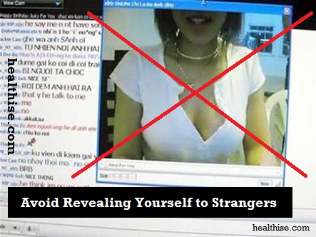 Avoid Sex chatting or cam chatting with scamsters