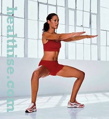 Inner thighs exercise - Lunge Lean Sits 1