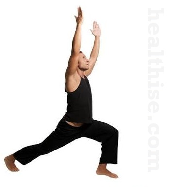 Inner thighs exercise - Warrior Pose Lunges