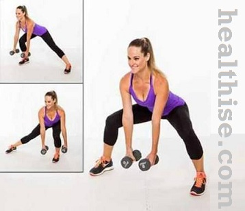 Inner thighs exercise - sumo squat weights