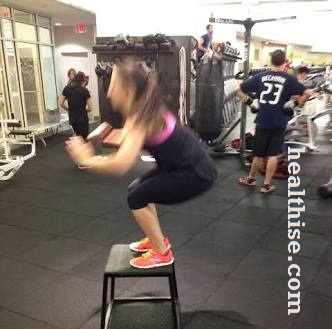 Jump Into Box - Iso Squat Workouts to Attain Sexy Legs