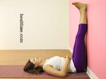 Legs-on-the-wall Pose yoga exercise