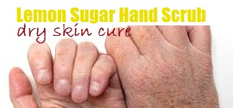 Lemon Sugar Hand Scrub for dry skin in winter season
