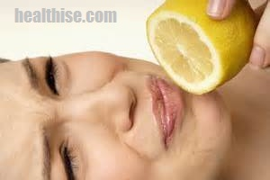 Lick or suck lemon to Stop Menstrual Cycle Period