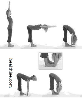 Pada Hasthasana How to do Standing Forward Bend Yoga