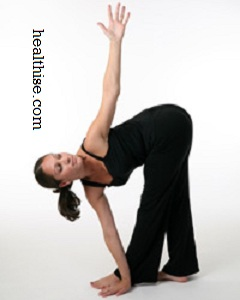 Revolved Triangle Pose yoga exercise