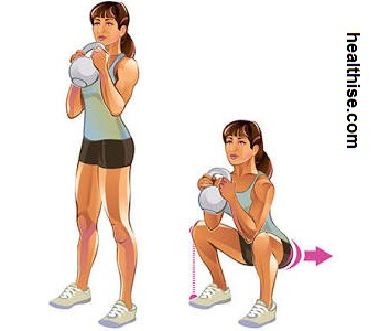 Sexy Buttocks Goblet Squats Exercise - Ass fitness - How to Make sexy Butt