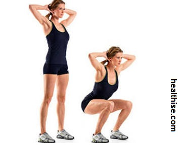 Sexy Buttocks Squats Exercise - Ass fitness - How to Make sexy Butt