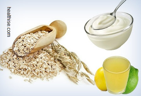 Simple Oatmeal and Lemon Juice Mask for Acne Scars Blemished Skins