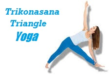 Triangle Trikonasana yoga pose exercises
