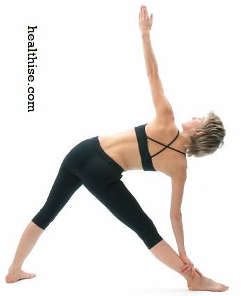 Trikonasana Traingle Yoga Pose exercise