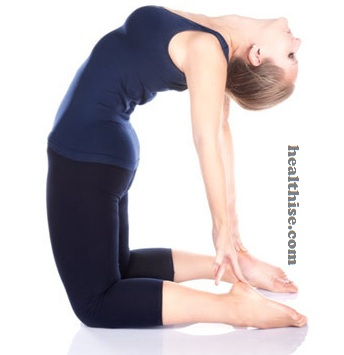Ustrasana (Camel Pose) Baba Ramdev Yoga For Hair Loss Control