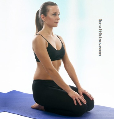 Vajrasana (Thunderbolt Pose) Ramdev Yoga For Hair Loss Control