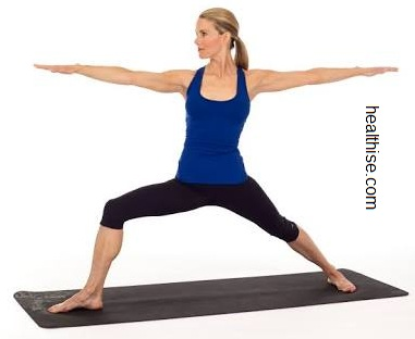 baba ramdev Yoga poses - warrior II yoga