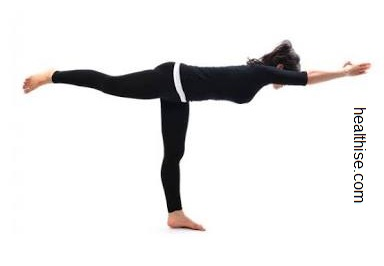 baba ramdev Yoga poses - warrior III yoga