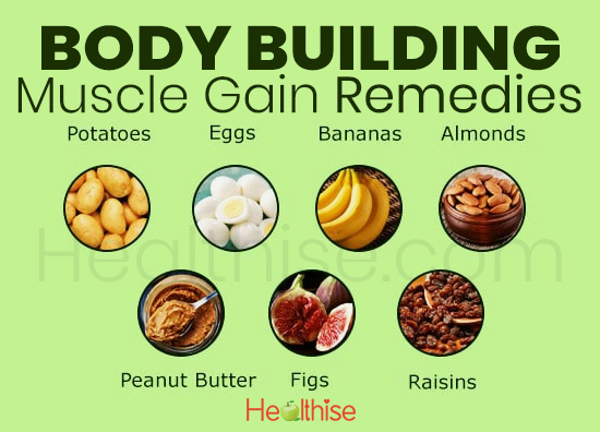 body building muscle gain remedies food diet