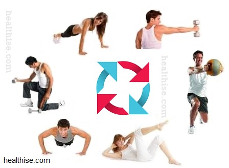 circuit training - home fitness exercise to burn fat