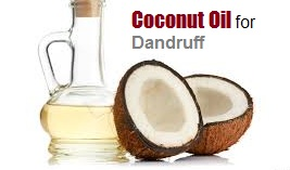 coconut oil for scalp treatment and dandruff removal