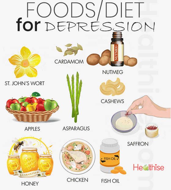 depression home remedies foods prevention