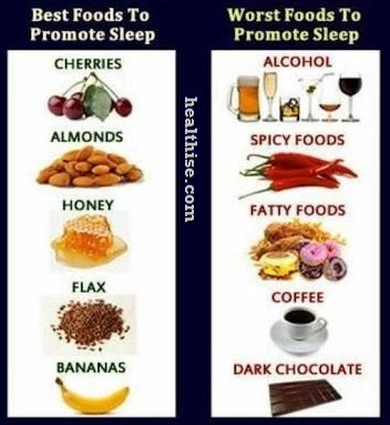 foods for Insomnia sleeping disorder treatment