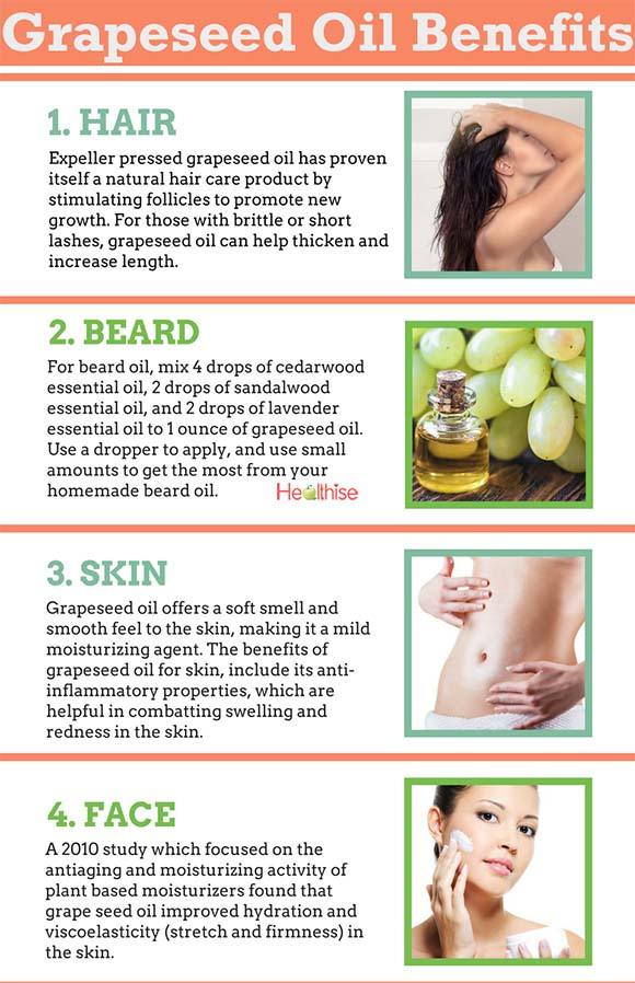 Grapeseed Oil For Healthy Hair Growth