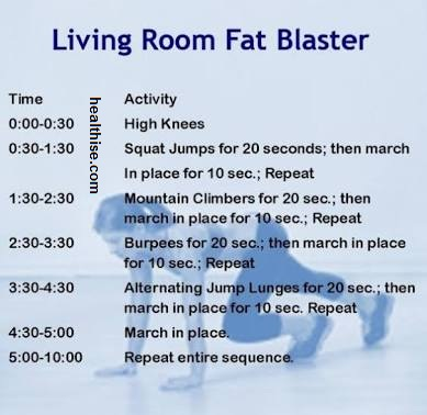 home living room training - home fitness exercise to burn fat