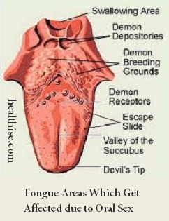 oral sex tongue areas
