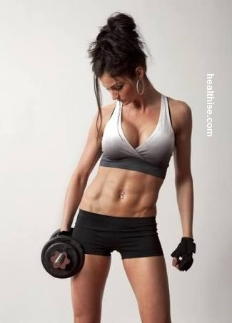 weight training - home fitness exercise to burn fat