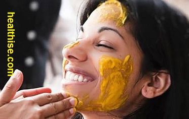 wrinkle free skin and face - health benefits of turmeric haldi powder