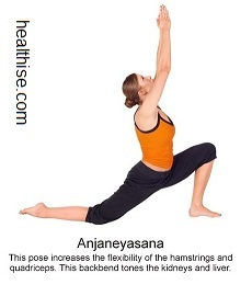 yoga backbend poses - Anjaneyasana yoga position