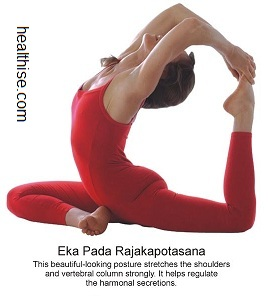 yoga backbend poses - Eka pada rajkapotsana yoga position
