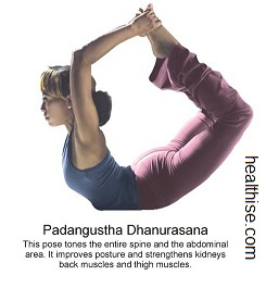 yoga backbend poses - padangustha dhanurasana yoga position