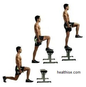 Step-ups in reverse - Exercises to Big Buttocks