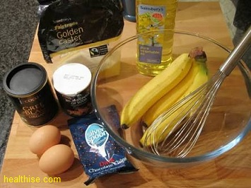 banana muffins healthy recipe method and items