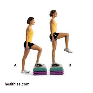 front step-ups - Exercises to Big Buttocks