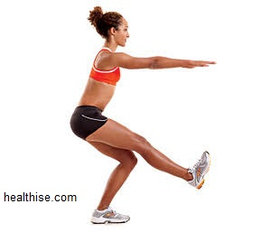 single leg squats - Exercises to Big Buttocks
