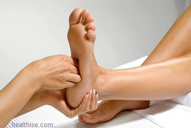 foot arch massage process