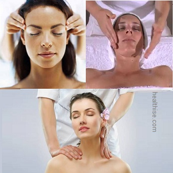 aroma therapy massage - head, facial and neck
