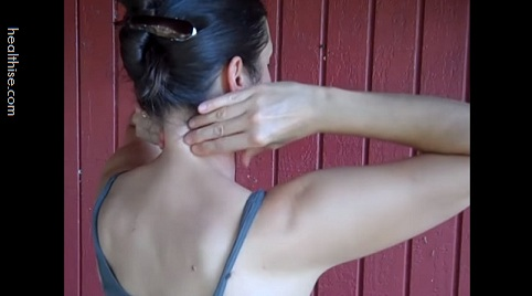 step 6 self massaging neck to relieve neck pain