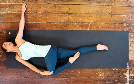 Natrajasana or Reclining Twist - neck pain cure with yoga