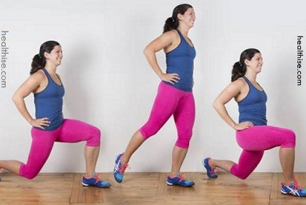 Walking lunges for legs thighs and buttocks care