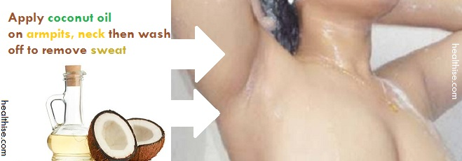 coconut oil for amrpit and cleaning underarm