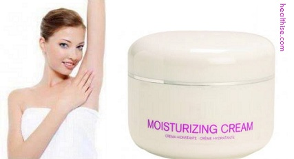 moisturizing cream for armpit hair removal