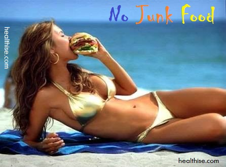 no junk food snacks oily stuffs for thighs buttocks and legs