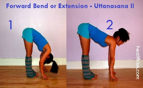 Forward Bend or Extension Uttanasana 2 weightloss