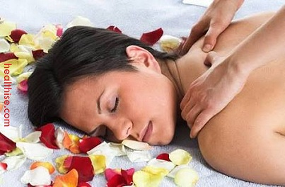 Indian head massage neck massage