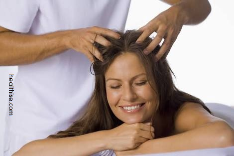 Indian head massage scalp massage