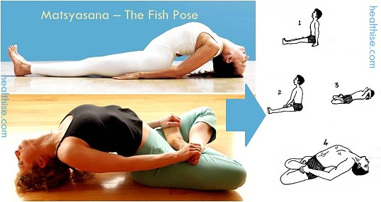 Matsyasana Fish Pose yoga benefits