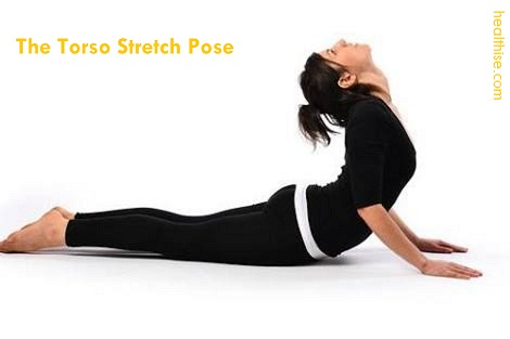 the torso stretch pose for abs workout